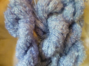 Blue Mohair Loopy Loop Boucle Yarn
