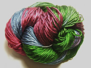 100% Pure Reeled Mulberry Silk Dupion Yarn 50 gramme Winter Colour 15 Lot A