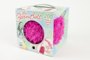 The Yarn Ball Pink Kit to Make Your Own Scarf and Bag Includes Yarn and Learn to Knit Dvd