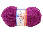 Purple Pingouin Familia 100% Acrylic Baby Yarn for Crochet & Knitting
