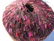 Knitting Fever Dazzle Metallic Ladder Yarn New Colour 7 Red. Pink, Black