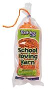 Trait-tex 3-Ply School Roving Yarn Skein, Orange, 150 Yards