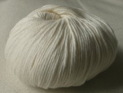 Lotus Yarns White Cotton Cashmere Autumn Wind 01