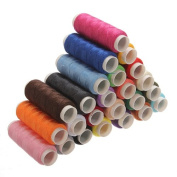24 Colour Sewing Kit Embroidery Thread String Tape 100% Pure Cotton Thread Reel