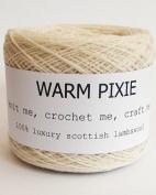 Luxury 100% Soft Scottish Lambswool - Cream - For Hand & Machine Knitting, Crochet and Crafting.