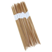 11 x 4pcs 25cm Bamboo Knitting Needles Double Pointed Sizes 2.0-5.0mm