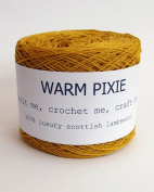 Luxury 100% Soft Scottish Lambswool - Acid Yellow - For Hand & Machine Knitting, Crochet and Crafting.