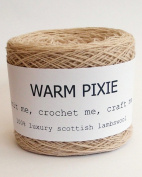 Luxury 100% Soft Scottish Lambswool - Beige - For Hand & Machine Knitting, Crochet and Crafting.