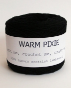 Luxury 100% Soft Scottish Lambswool - Black - For Hand & Machine Knitting, Crochet and Crafting.