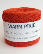 Luxury 100% Soft Scottish Lambswool - Orange - For Hand & Machine Knitting, Crochet and Crafting.