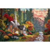 The Forest Chapel Latch Hook Rug Kit Latch Hook Rug Kit