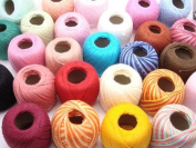 Lot 45 Balls Size 10 Crochet Cotton Threads Yarn Knitting. All Different Colours.