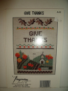 Give Thanks Cross Stitch By Imaginating