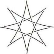 4 Star Quilting Stencil
