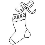 Quilt Stencil Christmas Stocking