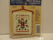 Stitch 'N Hang Counted Cross Stitch Kit - Finished Size 7.6cm X 10cm - Item 4441 - Sampler