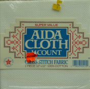 Counted Cross Stitch 14 Count Aida Cloth - 30cm x 30cm White