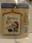 Stitch 'N Hang Counted Cross Stitch Kit - Finished Size 7.6cm X 10cm - Item 4448 - Santa's List
