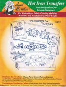 Flowers For Linens Aunt Martha's Hot Iron Embroidery Transfer Pattern