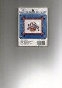 Counted Cross Stitch Kit, #30409, FLOWER BASKET WELCOME, Disigned by Carole Rodgers
