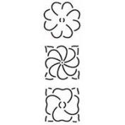 3 Assorted Flowers Quilting Stencil
