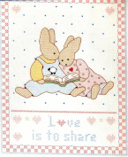 Daisy Kingdom Stamped Cross-Stitch Sampler - Love Is To Share