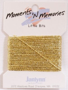 Little Bits Metallic Winder - Gold Memory Fibres - 10 yards -- Moments 'n Memories - #168-0274