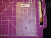 Overall Sam Quilting Stencil