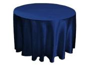 230cm Satin Round Tablecloths Wedding Table Linens Decor