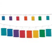 Beistle 54568-RB Rainbow Lantern Garland, 12-Feet