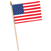Beistle 50980 12-Pack American Rayon Flag, 10cm by 15cm