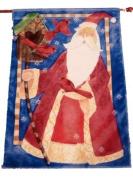 Large Santa Claus Holiday Banner