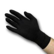 Dynarex Black Latex Exam Gloves, Powder-Free, Medium, Box/100 Personal Healthcare / Health Care