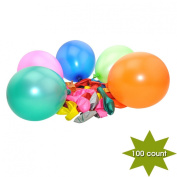 YazyCraft Pearlized Crystal Balloons 100 count