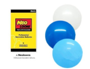 NEO 25cm Assorted White Blue Light Blue Balloons for Party Decor