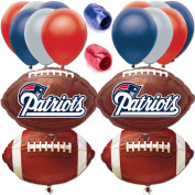 New England Patriots Playoffs Football Balloon Decorating Party Goer Pack 17pc Set