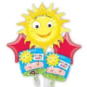 Get Well Sunshine Balloons - Get Well Balloon Bouquet