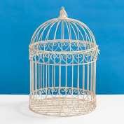 Decorative Ivory Bird Cage Centrepiece