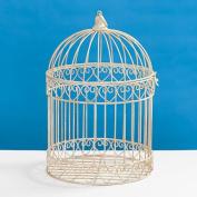 Decorative Ivory Bird Cage Centrepiece
