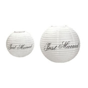 Just Married Lanterns - Party Decorations & Party Lanterns