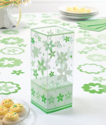 Set/6 Flower Centrepiece-Green