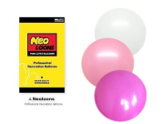 NEO 25cm Assorted White Pink Light Pink Balloons for Party Decor