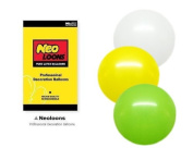 NEO 25cm Assorted White Green Yellow Balloons for Party Decor