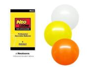 NEO 25cm Assorted White Orange Yellow Balloons for Party Decor