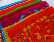 Mexican Papel Picado Banner, Day of the Dead, Halloween, Mexican Party Decor