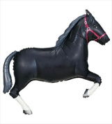 Funny Party Hats ab140 110cm Black Horse Helium Shape