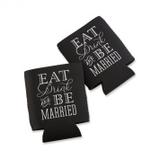 "Kate Aspen ""Eat, Drink and Be Married"" Collapsible Koozie, Set of 12"