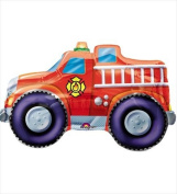 Funny Party Hats ab142 Rescue Team Fire Engine Flat Super Shape Balloon