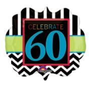Celebrate 60th Party Foil Balloon