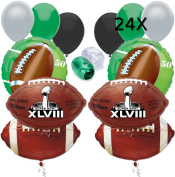 Super Bowl XLVIII (48) NYNJ 2014 NFL Balloon Decorating Party Pack 32pc Ultimate Kit